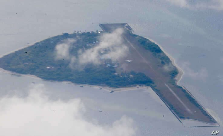 Philippine-claimed Thitu island, part of the Spratlys group of islands is shown, April 21, 2017.