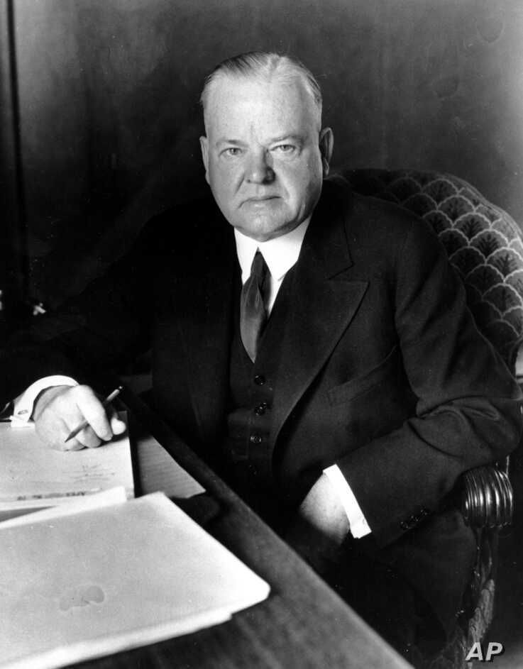 This is a Sept. 1935 photo of former U.S. President Herbert Hoover.