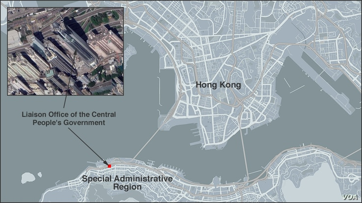 Map of Liaison Office of the Central People's Government, Hong Kong