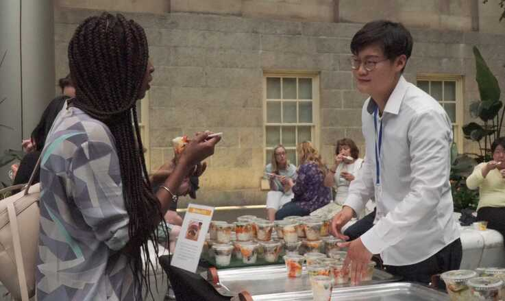 Intern Donghyun Kim makes regular visits to embassies around DuPont Circle for their open house events.