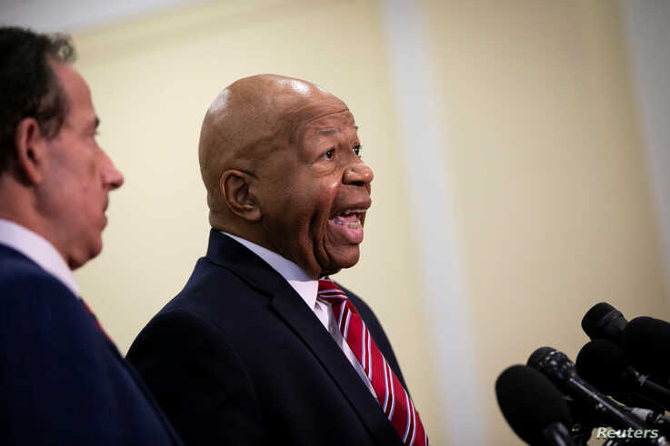 House Oversight and Reform Committee Chair Elijah Cummings (D-MD) speaks during a news conference on Capitol Hill in Washington, July 10, 2019.
