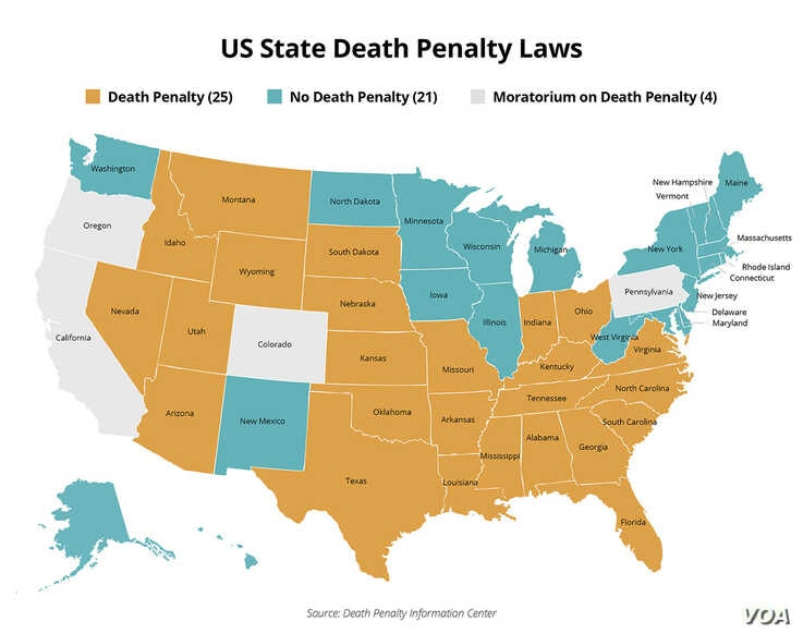 US State Death Penalty Laws