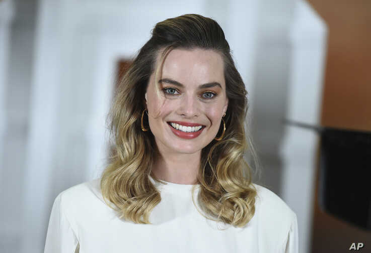 """FILE - Margot Robbie at the photo call for """"Once Upon a Time in Hollywood"""" in Los Angeles, July 11, 2019."""