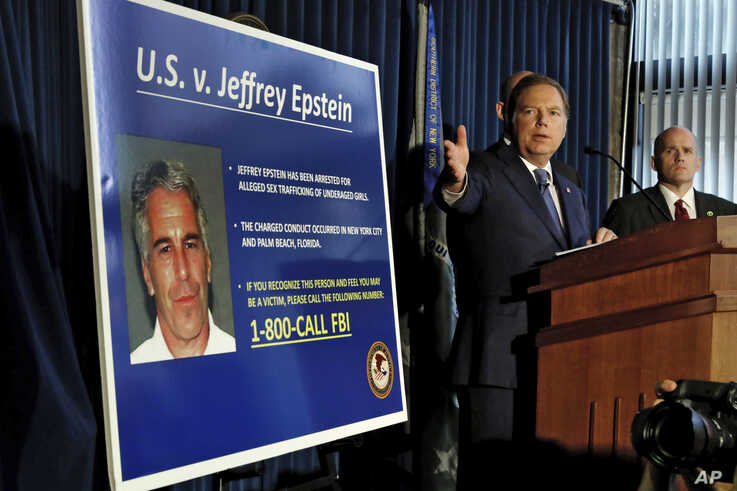 United States Attorney for the Southern District of New York Geoffrey Berman speaks during a news conference, in New York, July 8, 2019.