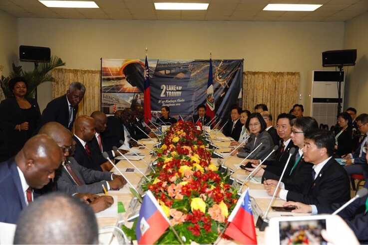 The sides hold a bilateral metting chaired Haitian President by Jovenel Moise and Taiwanese President Tsai Ing-wen in Port-au-Prince, Haiti, July 13, 2019. (@jovenelmoise Instagram)