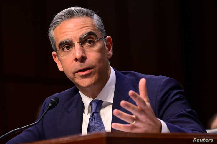 David Marcus, head of Facebook's Calibra (digital wallet service), testifies before a Senate Banking, Housing and Urban Affairs Committee hearing on Capitol Hill in Washington, July 16, 2019.
