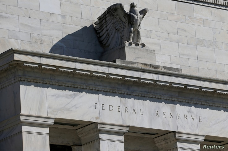 FILE - Federal Reserve Board building on Constitution Avenue is pictured in Washington, March 19, 2019.