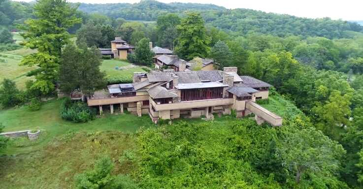 Frank Lloyd Wright built Taliesen near Spring Green, Wisconsin, and used it as both his home and office. (Courtesy Taliesin Preservation)