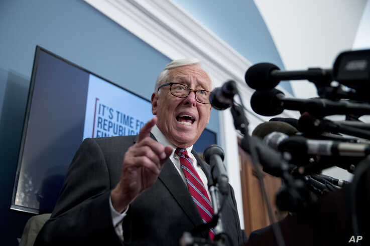 House Majority Leader Steny Hoyer of Md., speaks at a news conference calling for Senate action on H.R. 8 - Bipartisan Background Checks Act of 2019 on Capitol Hill in Washington, Aug. 13, 2019.