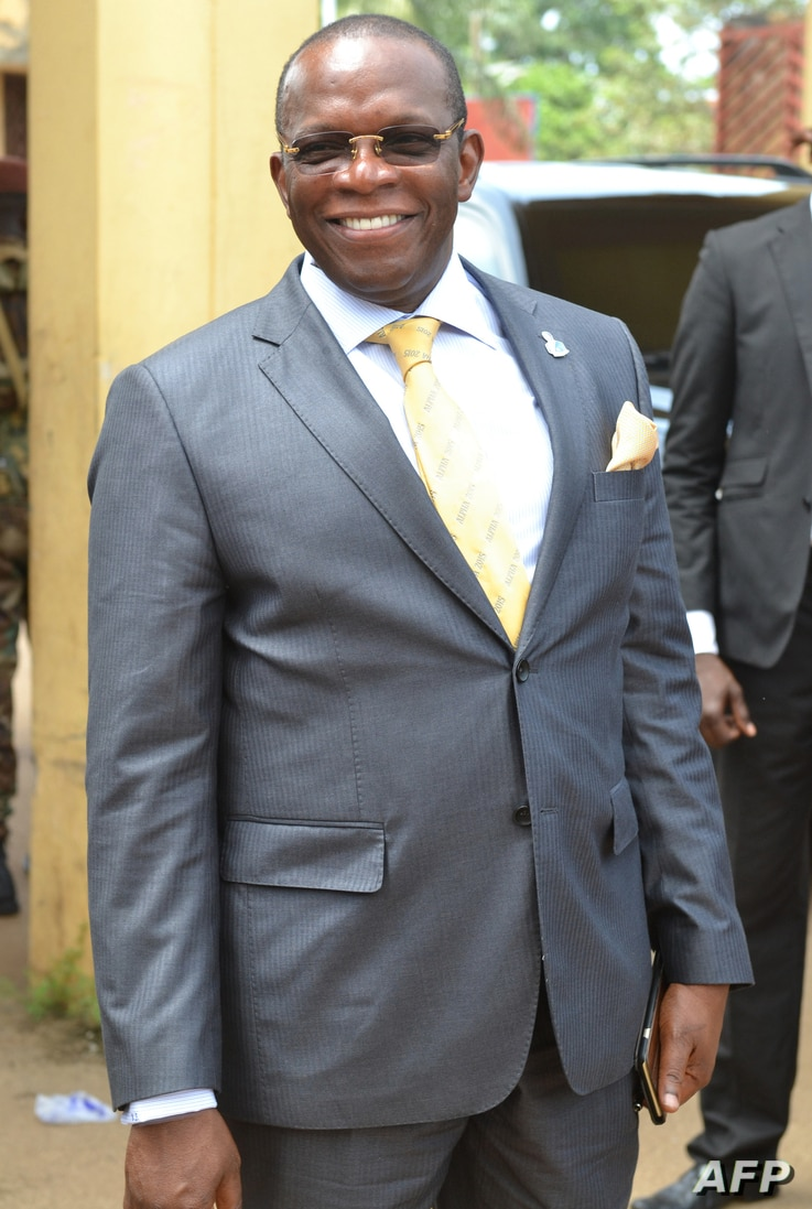 Ibrahima Kassory Fofana, shown Oct. 5, 2018, has been named the new prime minister of Guinea by President Alpha Conde.