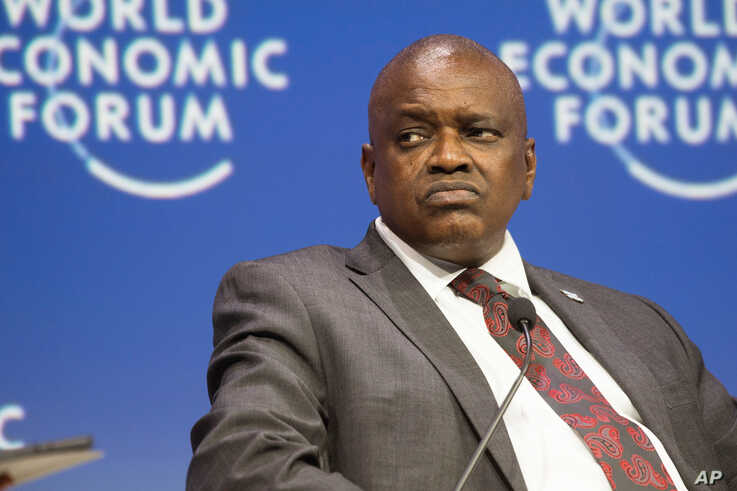 Botswana's president Mokgweetsi Masisi attends the World Economic Forum Africa meeting at the Cape Town International Convention Centre, on Sept. 4, 2019, in Cape Town.