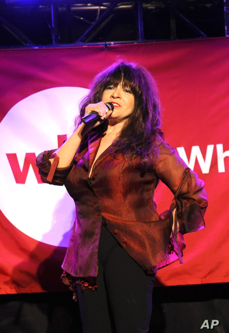 FILE - Ronnie Spector performs in New York, June 13, 2012.