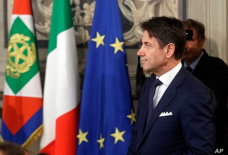 Italian Prime Minister Giuseppe Conte arrives at Rome's Quirinale Presidential Palace, Sept. 4, 2019.