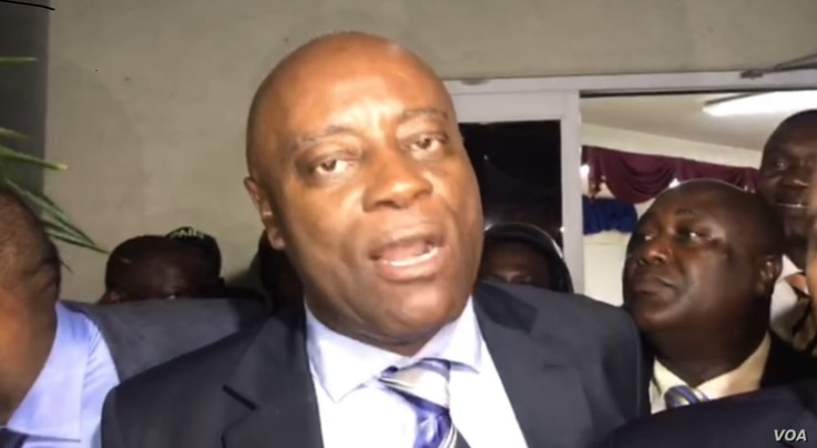 Haiti Senator Saurel Jacinthe alleges that Senate Leader Carl Murat Cantave offered him cash in exchange for a yes vote on the prime minister designate, Sept. 11, 2019.