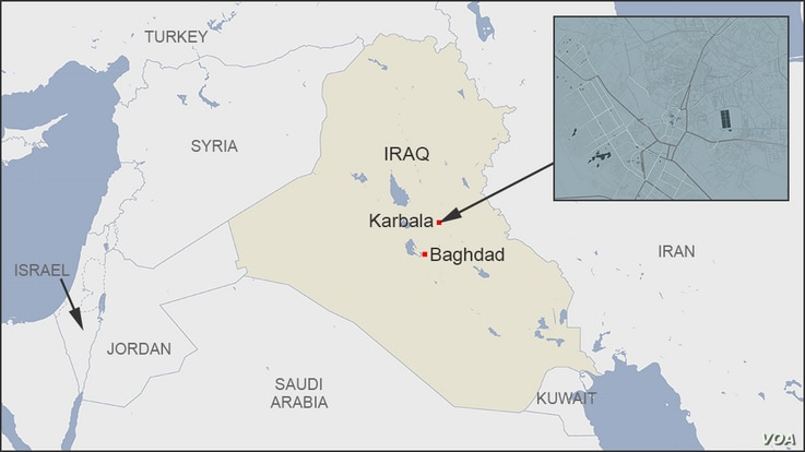 Map of Karbala Iraq