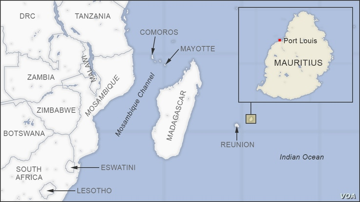 Map of Mauritius