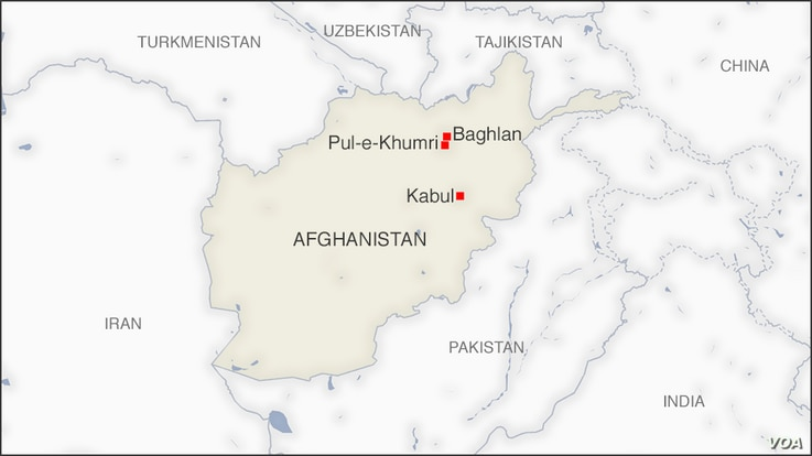 Map of Baghlan and Pul-e-Khumri, Afghanistan