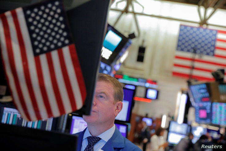 A trader works on the trading floor at the New York Stock Exchange (NYSE) in New York City, Sept. 3, 2019.