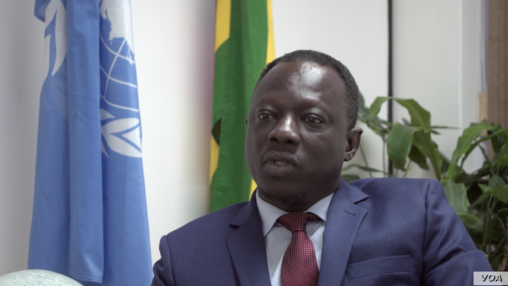 Clement Voule, the U.N. Special Rapporteur, is in Zimbabwe on a 10-day visit beginning in Harare, Sept. 17, 2019. (C. Mavhunga/VOA)