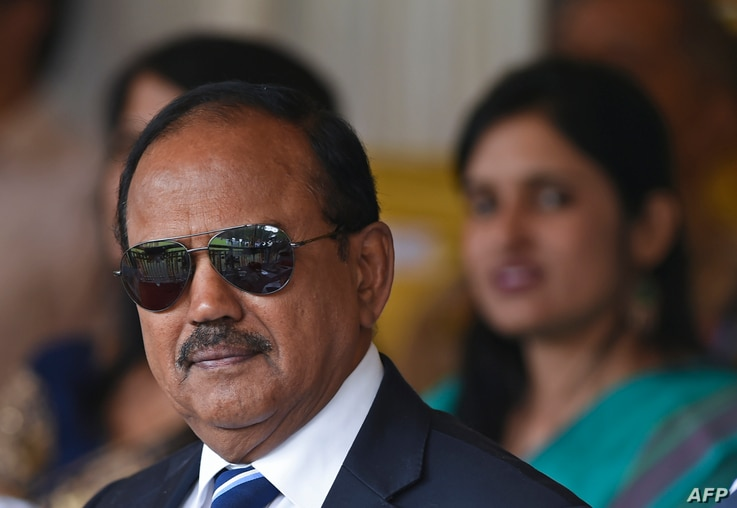 India's National Security Adviser Ajit Doval attends a ceremony to celebrate India's 73rd Independence Day, marking the end of British colonial rule, in Srinagar, India, Aug 15, 2019.