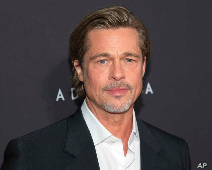 """Actor Brad Pitt attends a special screening of """"Ad Astra"""" at the National Geographic Museum, Sept. 16, 2019, in Washington."""