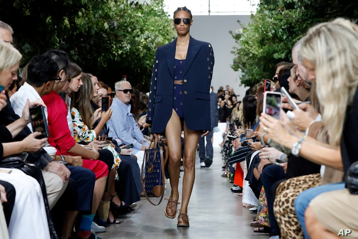 The Michael Kors collection is modeled during Fashion Week in New York, Sept. 11, 2019.