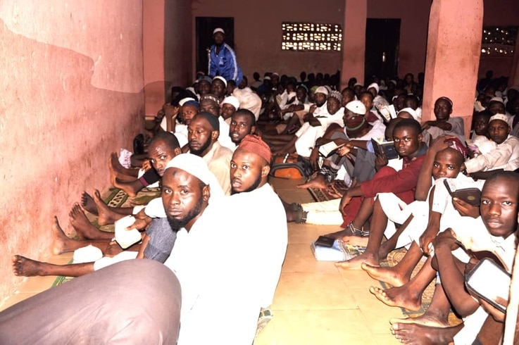 Police surprise students and staff when they arrive unannounced to investigate allegations of mistreatment at an Islamic school in Kaduna, Nigeria, Sept. 26, 2019. Some students are seen chained at the ankles. (Courtesy - Nigerian Police)