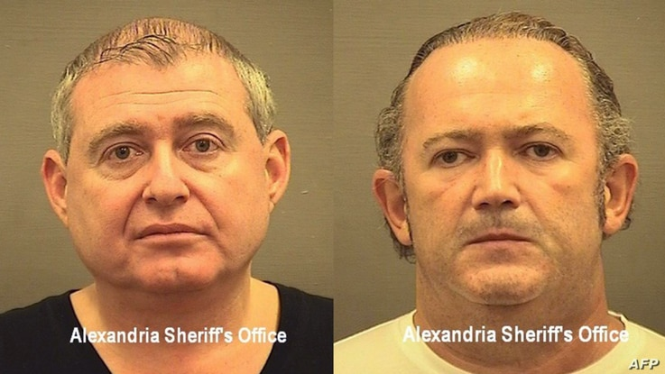 These booking photos courtesy of the Alexandria Sheriff's Office in Virginia and released on October 10, 2019, show Lev Parnas …