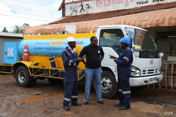 Koko network tank for at least once a week fill the stations, each station carries 300 litres of fuel.