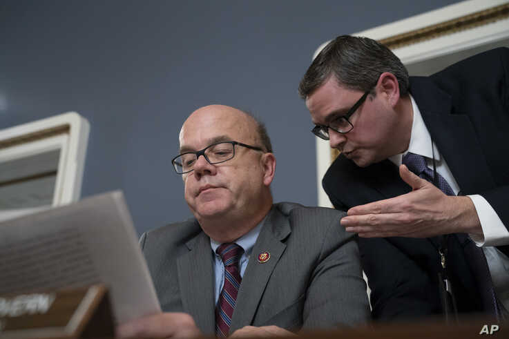 House Rules Committee Chairman Jim McGovern, D-Mass., presides over a markup of the resolution that will formalize the next steps in the impeachment inquiry of President Donald Trump, at the Capitol in Washington, Oct. 30, 2019.
