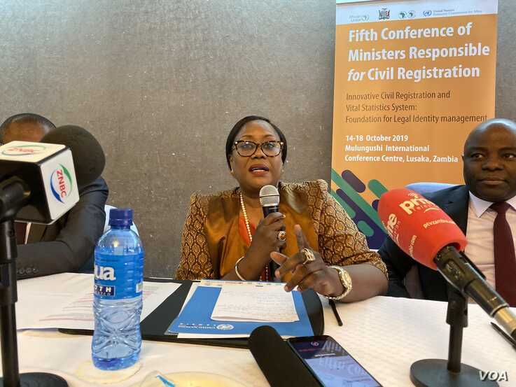 Coumbia Mar Gadio, the head of the U.N. in Zambia, says the problem of unregistered child in Africa makes it hard for such children to build prosperous lives, Lusaka, Oct. 15, 2019. (C. Mavhunga/VOA)