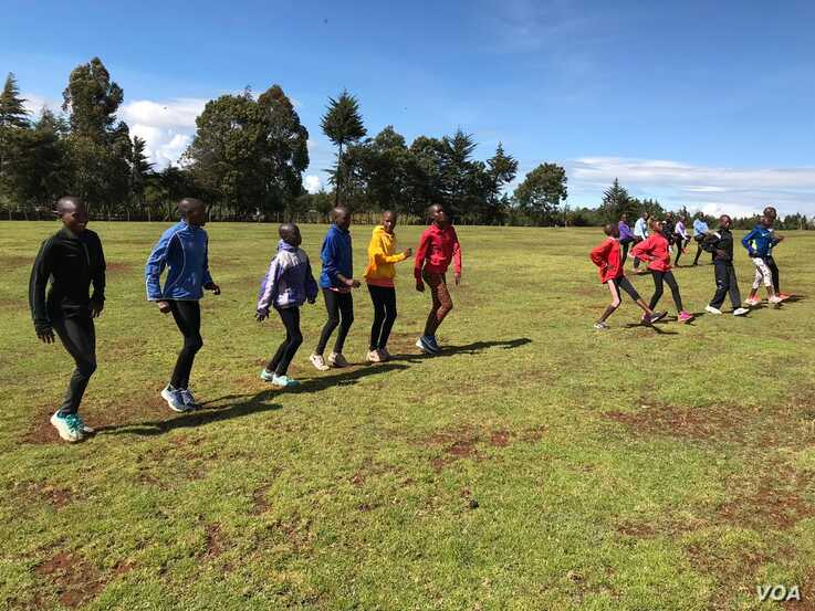 The Rift Valley region has produced most of athletes, its common to see young athletes train in this part of the country. (M. Yusuf/VOA)