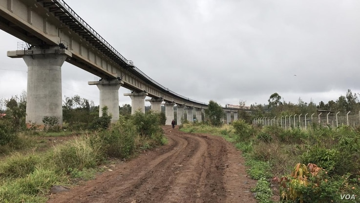 The railway line now stretches from the port city of Mombasa to Naivasha. Kenya hopes the railway will bring business and improv