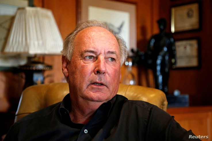 U.S. businessman Harry Sargeant III speaks about his dealings with Venezuela during an interview with Reuters at his home in…