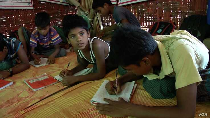 There are concerns that inadequate schooling and vocational training opportunities for Rohingya youth could leave young refugees unprepared for life as adults. (Dave Grunebaum/VOA)