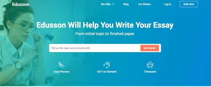 Edusson is one of the many websites that offer expert writers to craft essay and more for college students.