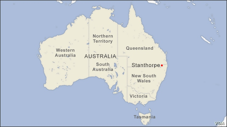 Map of Stanthorpe Australia