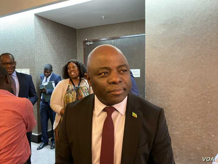 Stephen Kampyongo, Zambia's Minister of Home Affairs, says the southern African nation and the rest of Africa still have a way to go in ensuring that every African child is registered at birth, Lusaka, Oct. 15, 2019. (C. Mavhunga/VOA)
