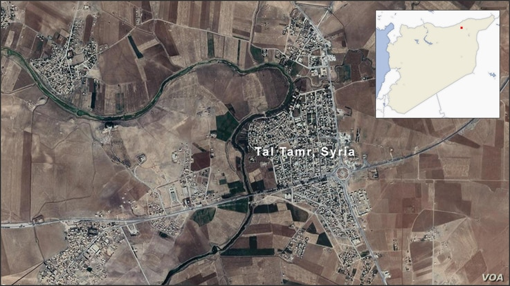 Map of Tal Tamr Syria