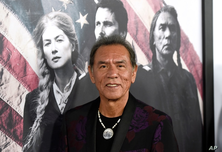 """Wes Studi arrives at the premiere of """"Hostiles"""" at the Samuel Goldwyn Theater, Dec. 14, 2017, in Beverly Hills, California."""