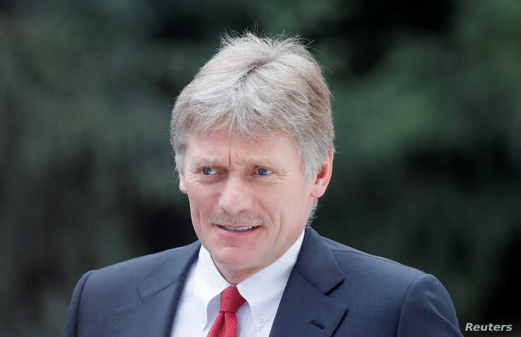 Kremlin spokesman Dmitry Peskov waits before a welcoming ceremony attended by Russian President Vladimir Putin and Kyrgyz President Sooronbay Jeenbekov in Bishkek, Kyrgyzstan, March 28, 2019.