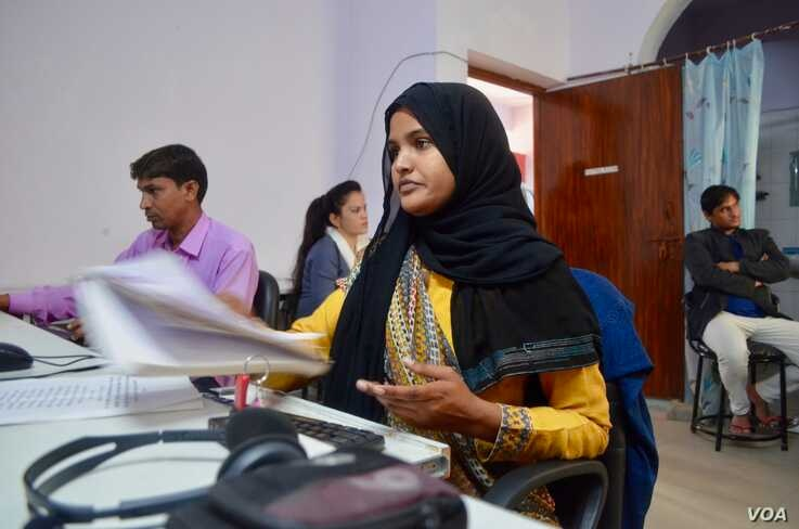 There are only three women among the employees at Radio Mewat where most women cannot work due to deep-seated  patriarchal attitudes.