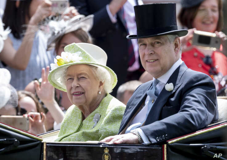Photo by: zz/KGC-178/STAR MAX/IPx 2019 6/22/19 Her Majesty Queen Elizabeth II and Prince Andrew The Duke of York at Royal Ascot…