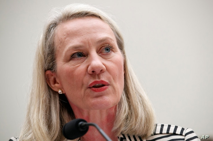 Alice Wells, acting Assistant Secretary of South and Central Asian Affairs and former U.S. Ambassador to Jordan, testifies…