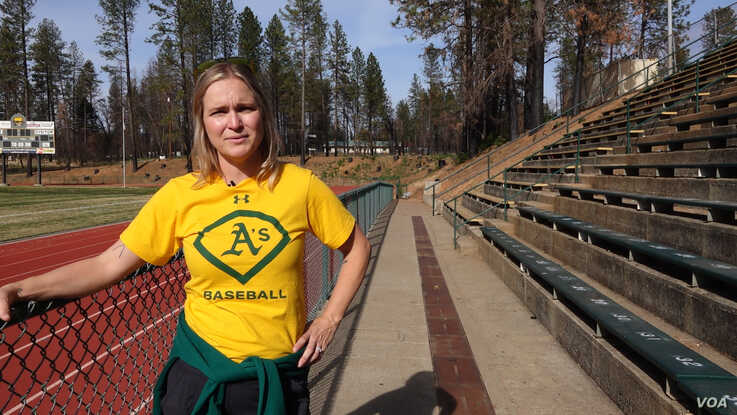 The Camp Fire raged through town three months after Anne Stearns started her job as the athletic director of Paradise High Schoo
