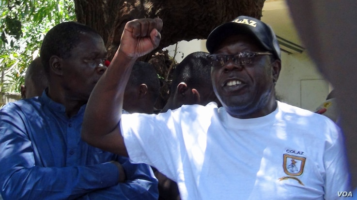 David Dzatsunga, a spokesman for the government workers, told the protesters that there was the need for continued pressure on President Emmerson Mnangagwa's government to address citizens' concerns.