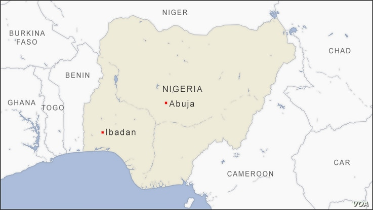 Map of Ibadan Nigeria