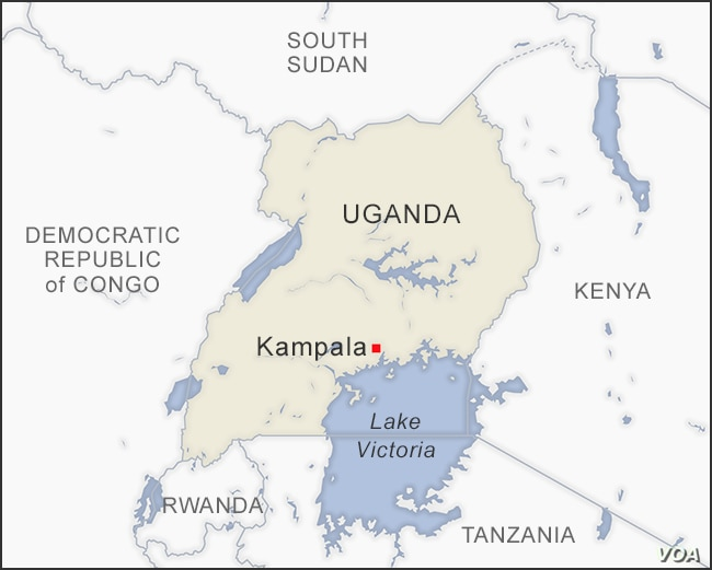 Map of Kampala Uganda