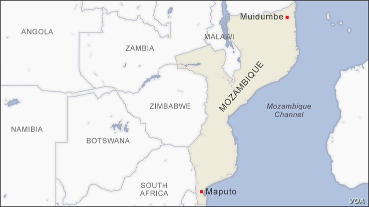 Map of Muidumbe Mozambique