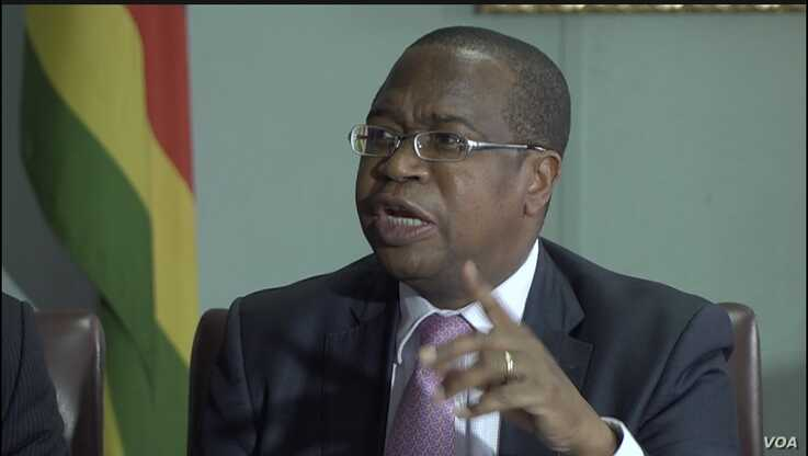 "Mthuli Ncube, Zimbabwe's finance minister, says the country needs to ""climate-proof"" its agricultural production. Nov. 28, 2019. (Columbus Mavhunga/VOA)"